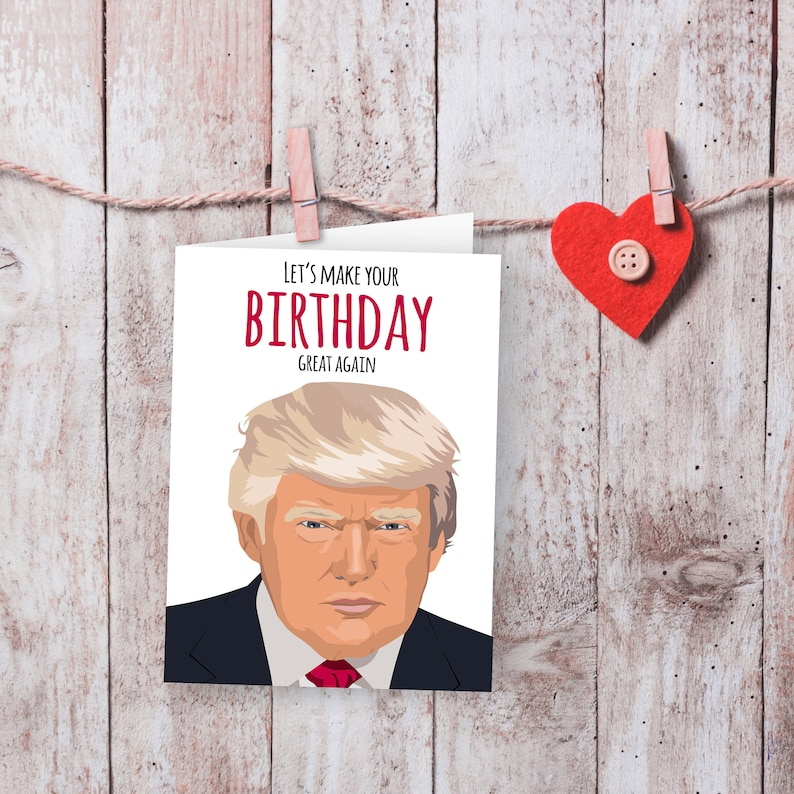 picture about Donald Trump Birthday Card Printable identify Donald Trump Birthday Card, Electronic Obtain, Printable card, Amusing playing cards, President Trump