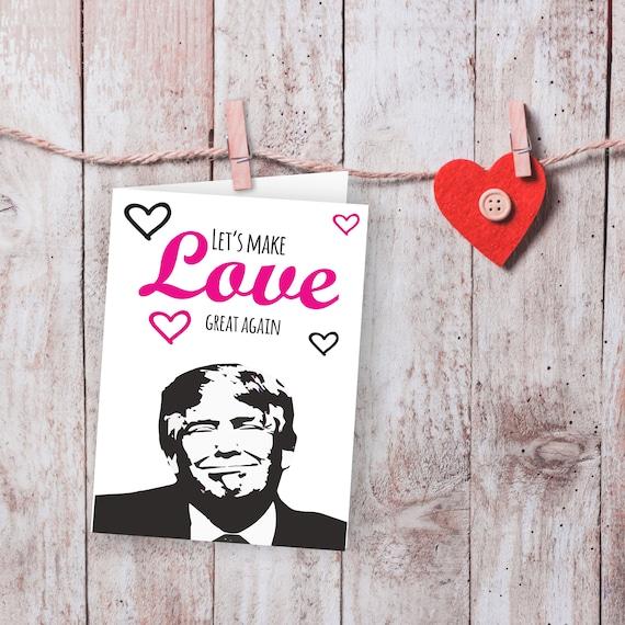 Donald Trump Valentine Card Funny Valentine Card Valentine Etsy