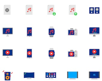 Instant download Icons, 100 Multimedia Icons.Graphic Icons.Vector Icons.EPS.png.svg.Sketch