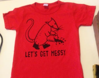 Let's Get Messy (red, kids size 2)