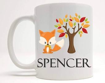 2da88ea80d2 Personalised Woodland Fox Present, Fox Birthday Themed Gifts, Fox Theme, Woodland  Animal Mugs, Cute Mugs, Stocking Filler Ideas, Kids Mugs.