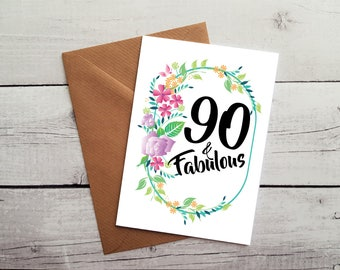 90th Birthday Card Cards For Her Nan Great Grandma 90 Ideas WORLDWIDE SHIPPING