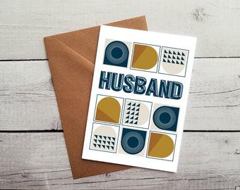 Husband Birthday Card, Husband Card, Husband Greetings Card, Husband Occasion Cards, Blank Cards, Birthday Card Idea, WORLDWIDE SHIPPING.