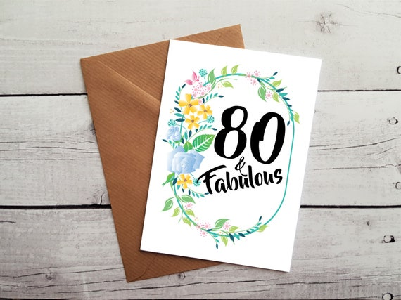 80th Birthday Card Cards For