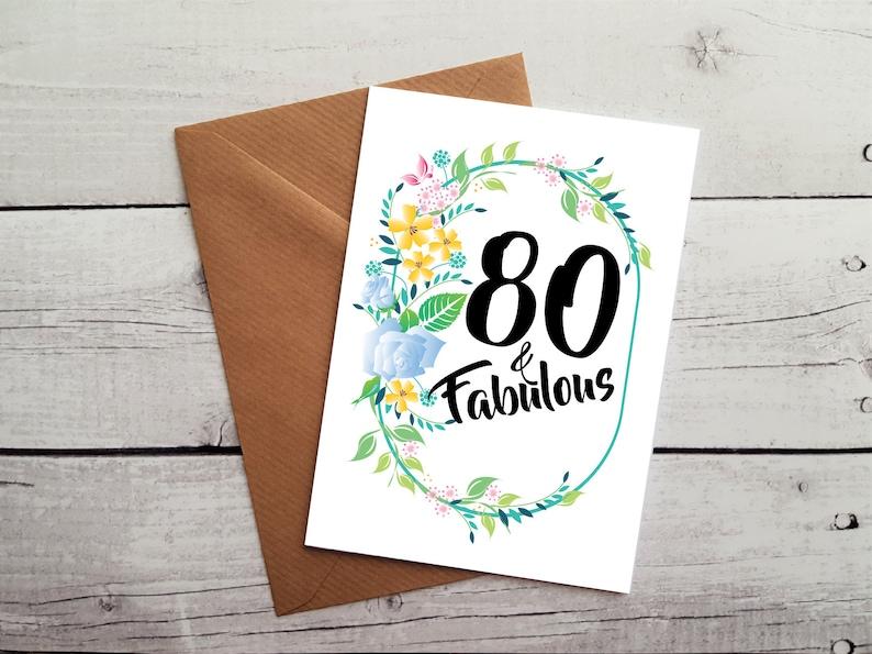 80th Birthday Card 80th Birthday 80th Birthday Cards For