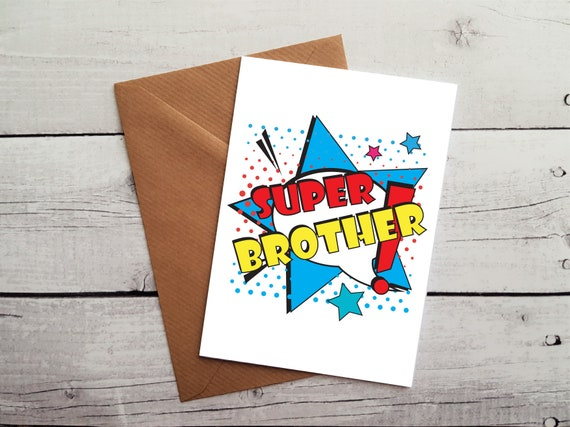 Super Brother Birthday Card Occasion