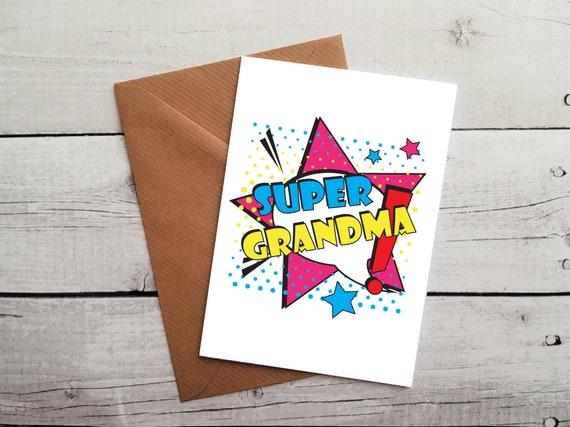 Super Grandma Birthday Card Occasion