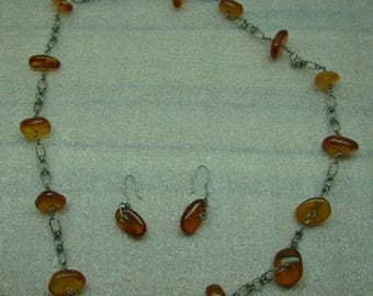 beads and earrings from amber