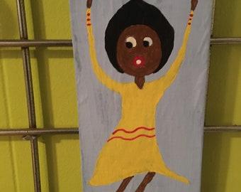 Mama-Girl Folk Art - Ladies of the Sun