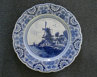 Delft Learned @ A Superb @ Porceleyne Fles Polychrome Delft Plate With A Bird 1930