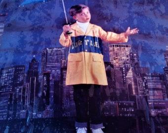 Vintage 1989 Teenage Mutant Ninja Turtles Size  M (4-5)  raincoat jacket NIP BL 1145