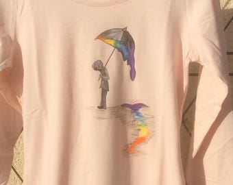 Shirt size 38 hand painted