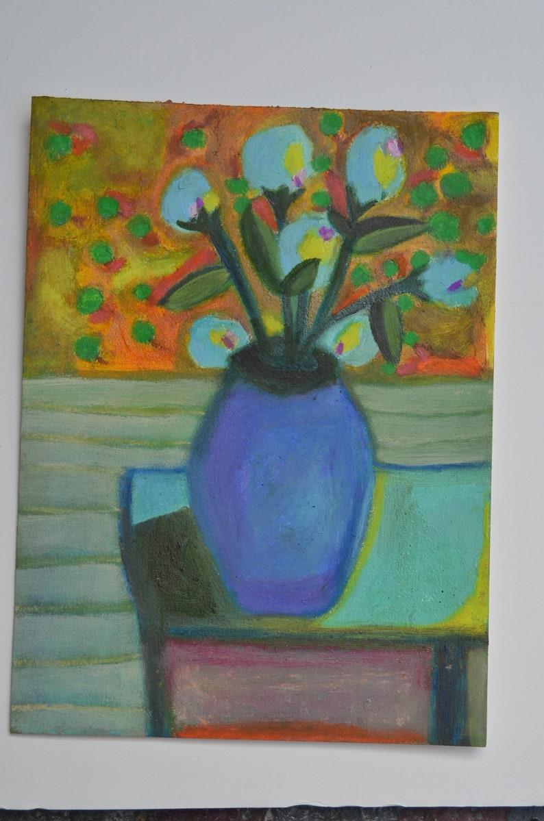 Vase on table