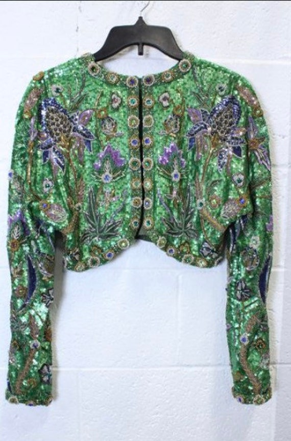 Rare Amen Wardy Sequined Bolero Jacket. Medium. E… - image 5