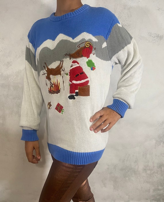 Ugly Christmas Sweater. Vintage Ugly Christmas Swe
