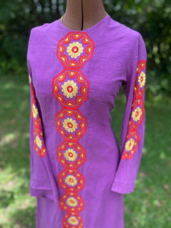 70s Rare Vintage Dress/Kaftan. Ultimate Boho Dress