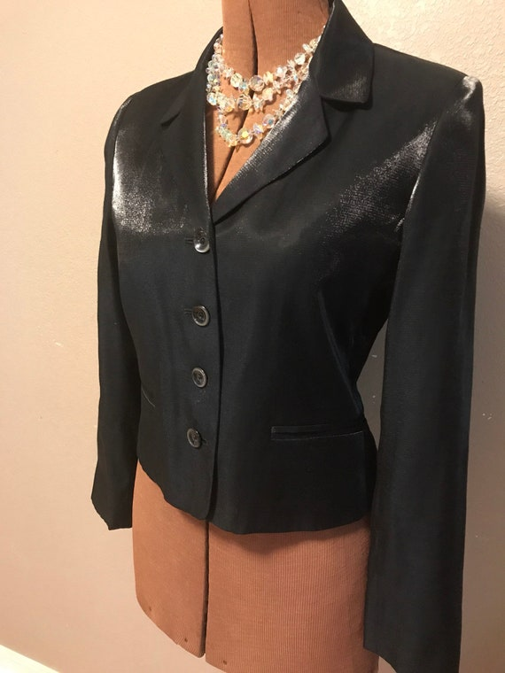 80's Harvé Bernard Nordstrom Metallics Cocktail Jacket. Like New. Tag Says 2 P But I Say 6p. Message Me For Measurements. by Etsy
