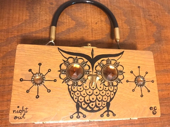 60's Enid Collins collectible box bag purse. Night