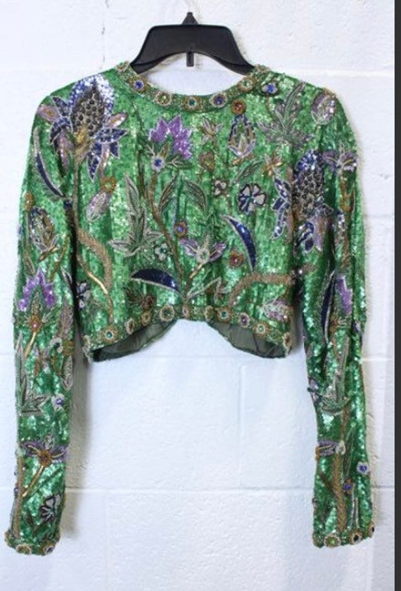 Rare Amen Wardy Sequined Bolero Jacket. Medium. E… - image 2