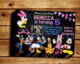 Minnie Invitation, Minnie Mouse Invitation, Minnie Mouse Party Invitation, Minnie Mouse Printable, Minnie Birthday Party