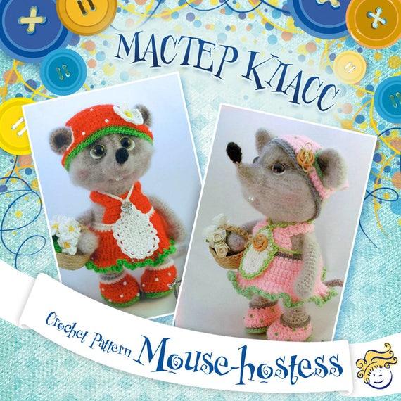Crochet Pattern Mouse Hostess Crochet Toys Pdf Pattern Etsy