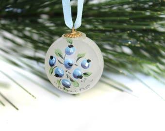 Mini Christmas Ball / Maine Blueberry Ornament