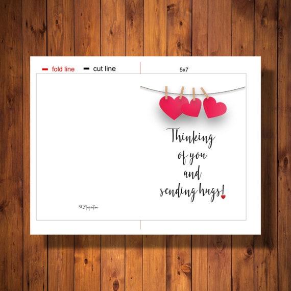 cards art journaling painting Shawn Petite Sending Hugs 5x7 single NoteGreeting Card
