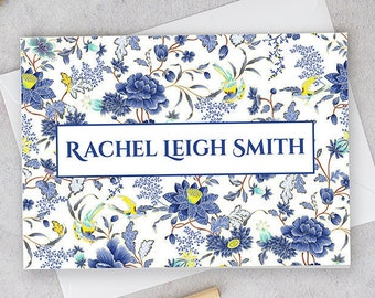 Rachel Bleu Suite, Folded Personalized Stationery Greeting Cards