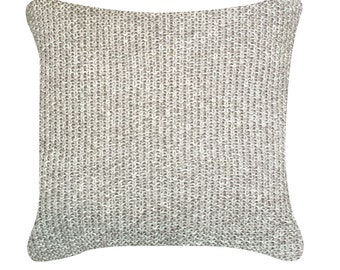 Natural Melange Knitted Cushion