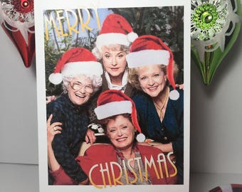 Golden Girls Merry Christmas card