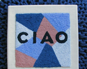 Medium CIAO Punch Needle Wall Art