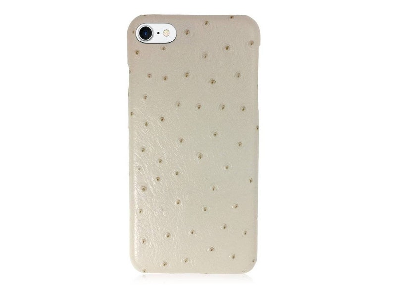 iPhone 7 / 8 Leather Case Snap-on Back Cover Case for Apple iPhone 7 / 8 in  Ostrich Beige