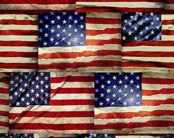 American Symbol Printed Fabric Quilting Cotton Fabric by the Yard Patriotic Cotton Fabric American Printed Cotton Fabric US Flag Fabric