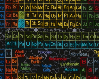 Science fabric etsy science periodic table fabric science fabric by the yard timeless treasures chemistry fabric scientist bty thefabricedge urtaz Images