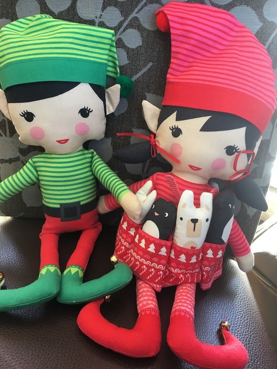 Christmas elf fabric panel  - quickly sew your own elf on the shelf!