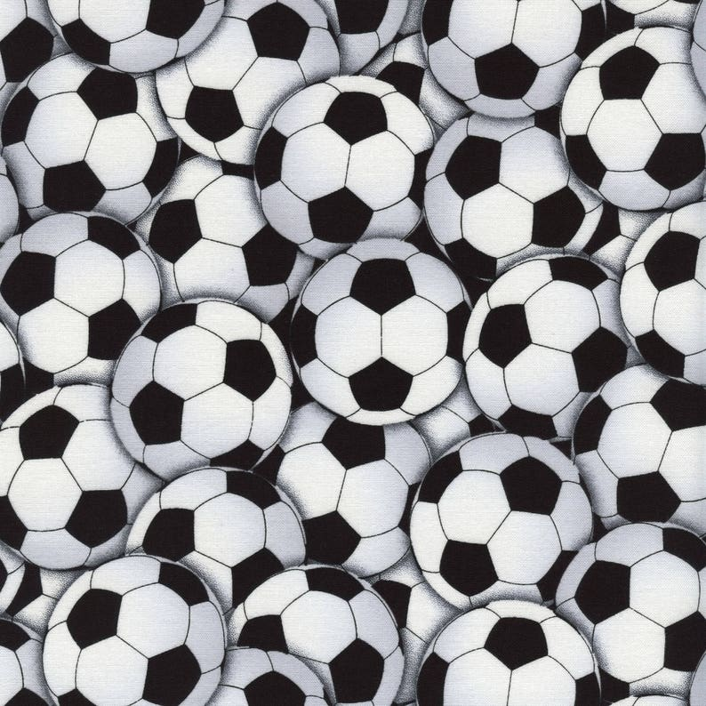 acb483489 Soccer Fabric Sports Soccer Ball Fabric By The Yard Soccer | Etsy