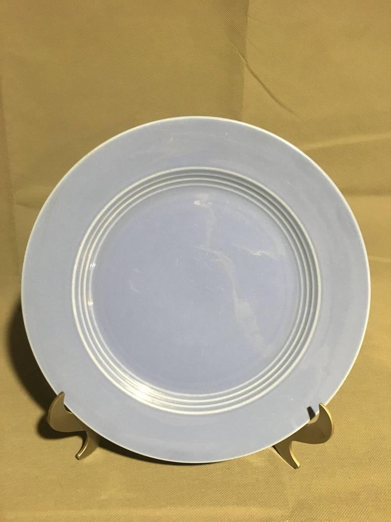 Vintage Harlequin Blue Ceramic Dinner Plate 10 diameter