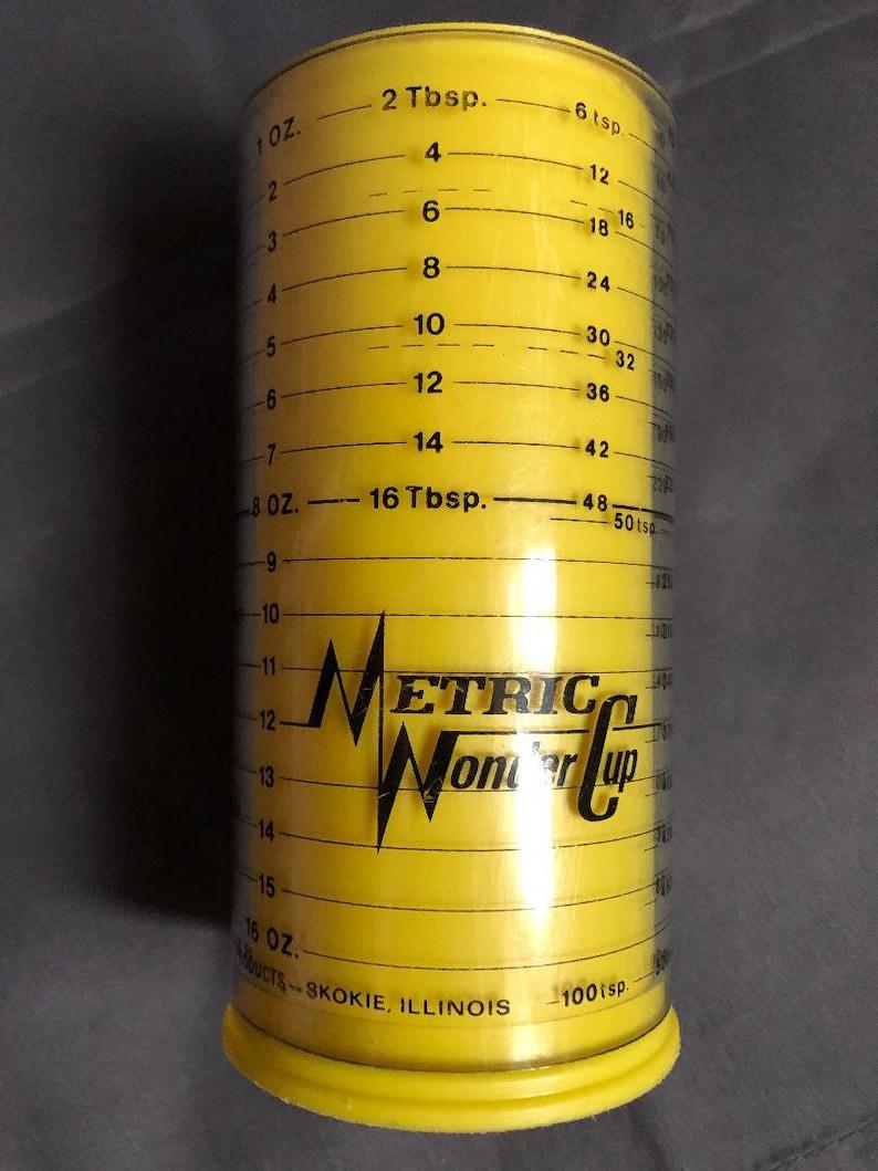 Vintage Metric Wonder Cup Measuring Cup Tablespoon Cups Teaspoons Milmour Products Plastic