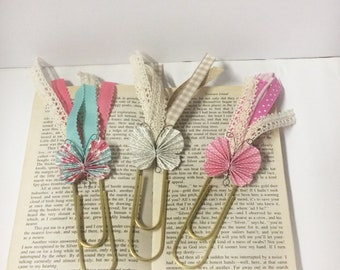 large paperclip bookmarks, butterfly bookmark, book marks, butterfly paperclips, butterfly book/planner accessories
