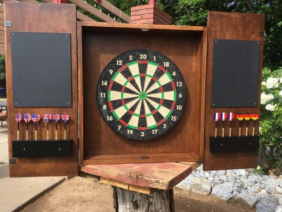 Merveilleux DIY Dartboard Cabinet Plans | Etsy