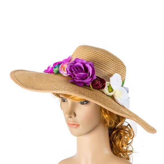 2f63cdd5 Custom personalized sun floppy straw beach hat pom
