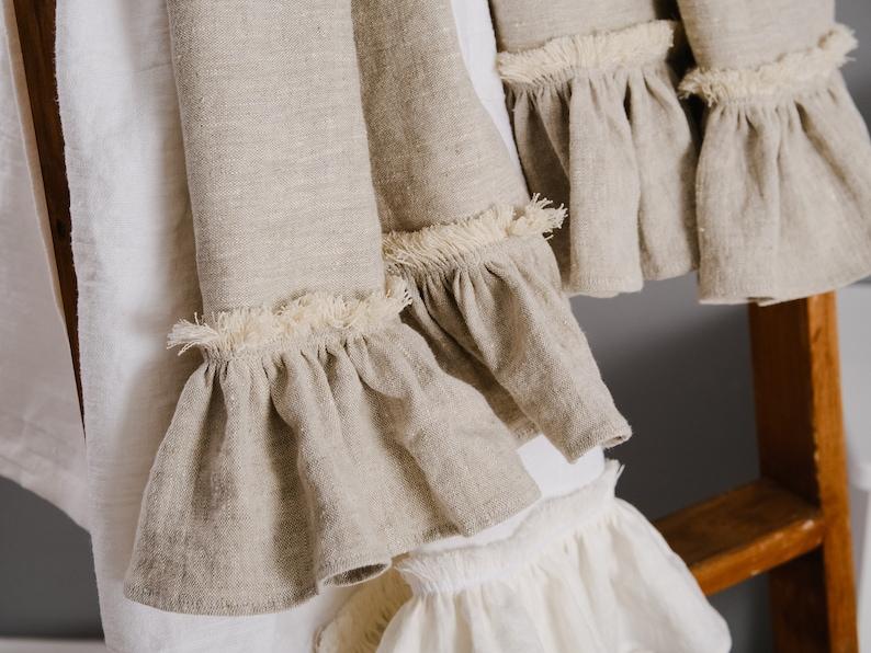 Linen Bath Towels Shabby Chic Farmhouse Decor Bathroom Towels Etsy
