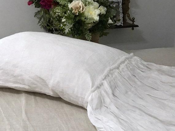 Flax Linen Dramatic Ruffle Pillowcase