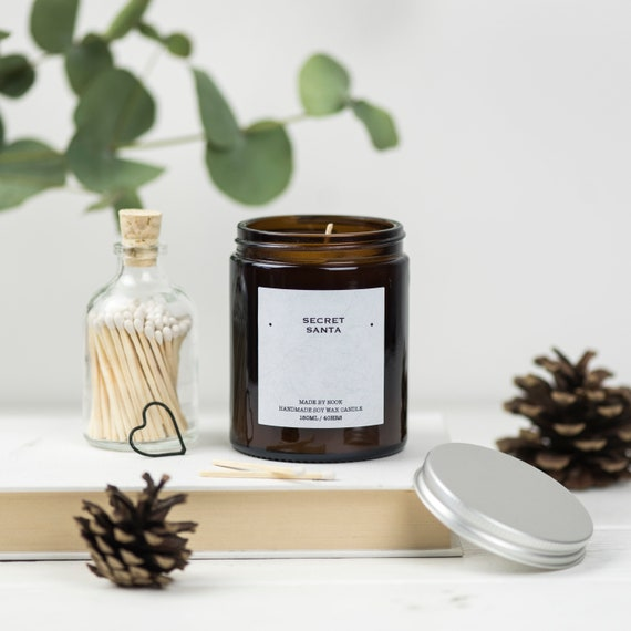Secret Santa Scented Soy Candle Gift From Your Secret Santa Etsy