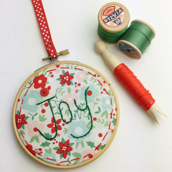 Christmas Wall Hanging Decorations.Joy Christmas Wall Hanging Hand Stitch Christmas Decoration Christmas Embroidery Hoop Handmade Christmas Tree Decorations