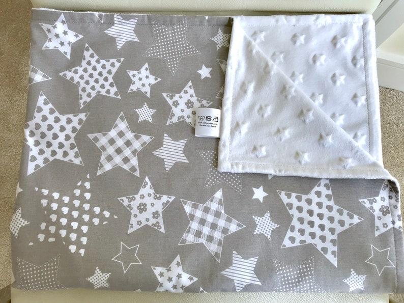 15ac4e5d66 Star blanket Baby star blanket Neutral baby blanket Minky