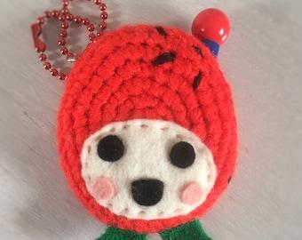 Tamagotchi Connection Crochet Case «Ichigotchi»