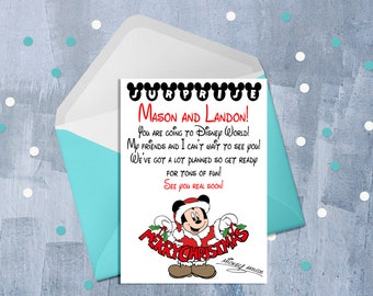disney surprise christmas letter from mickey youre going to disney walt disney world trip disney announcement personalized jpeg