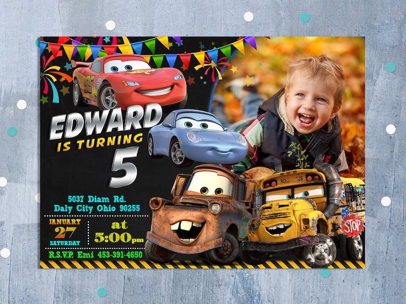 Cars 3 Invitation Birthday Disney