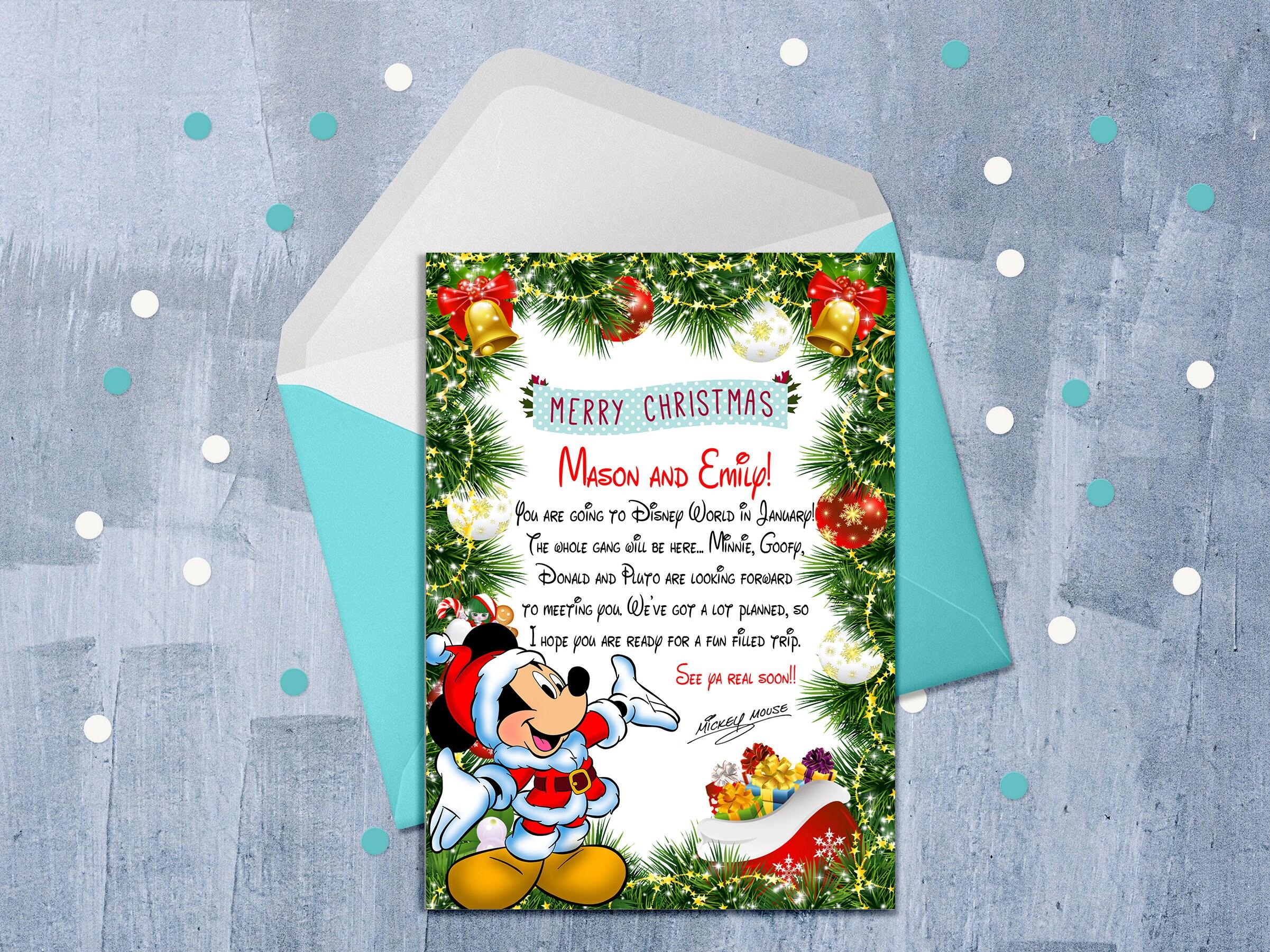 Disney no l lettre de surprise de mickey vous allez disney etsy - Lettre disney ...